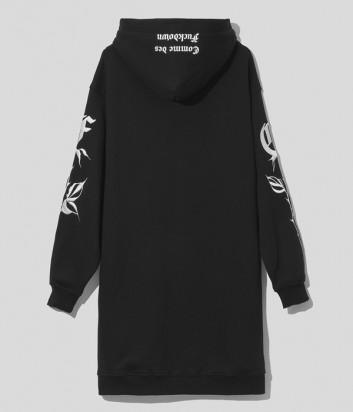 Платье-толстовка COMME DES FUCKDOWN CDFD1575 с капюшоном черное