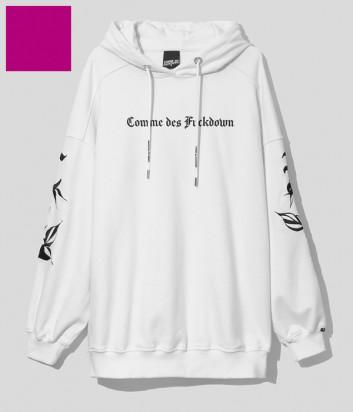 Толстовка COMME DES FUCKDOWN CDFD1578 с капюшоном цвета фуксии