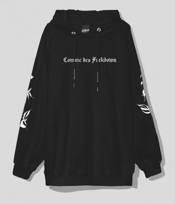 Толстовка COMME DES FUCKDOWN CDFD1578 с капюшоном черная