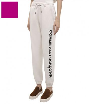 Спортивные брюки COMME DES FUCKDOWN CDFD1536 розовые с принтом