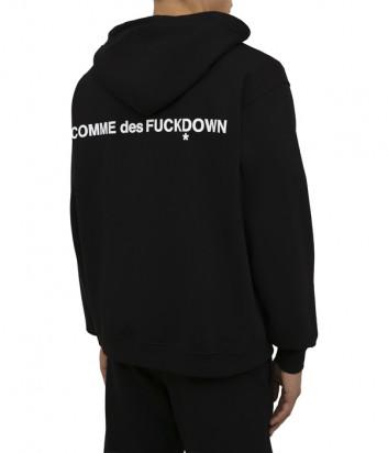 Олимпийка COMME DES FUCKDOWN CDFU1241 с капюшоном черная