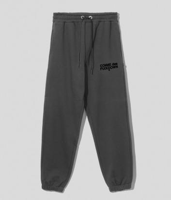 Спортивные брюки COMME DES FUCKDOWN CDFU1234 зеленые с логотипом