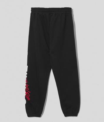 Спортивные брюки COMME DES FUCKDOWN CDFU1255 черные с логотипом