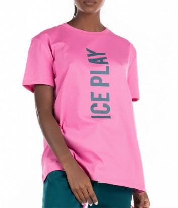 Футболка ICE PLAY F021 P400 розовая с логотипом