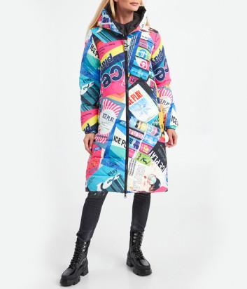Двухсторонняя длинная куртка ICE PLAY U2MJ0426406 цветной принт-черный