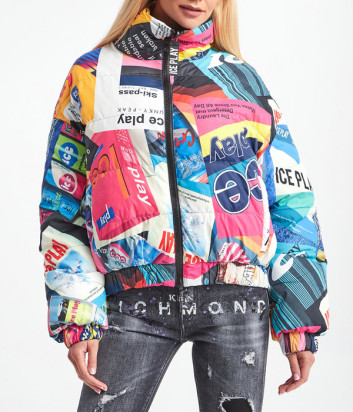 Двухсторонняя короткая куртка ICE PLAY U2MJ0916406 цветной принт-черный