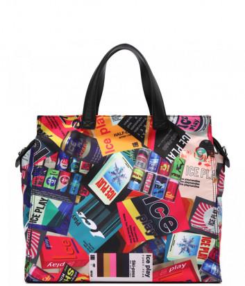 Большая сумка ICE PLAY W2M172376938 с ярким цветным принтом
