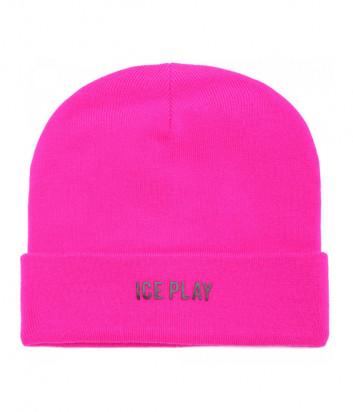 Женская шапка ICE PLAY W2M130409014 цвета фуксии с логотипом