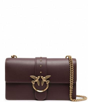 Сумка на цепочке PINKO Classic Love Bag Icon 1P22GE в гладкой коже бордовая