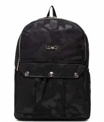 Текстильный рюкзак LIU JO Sport TF1174 T0300 с камуфляжным принтом черный