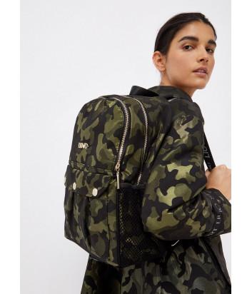 Текстильный рюкзак LIU JO Sport TF1174 T0300 с камуфляжным принтом зеленый