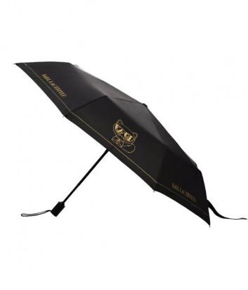 Зонт KARL LAGERFELD K/Ikonik 216W3905 черный с золотым принтом