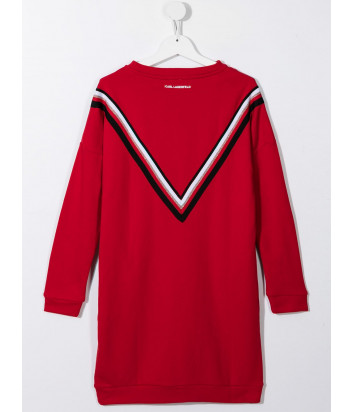 Платье KARL LAGERFELD Kids Z12198 красное с полосками и логотипом