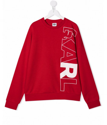 Толстовка KARL LAGERFELD Kids Z25319 красная с логотипом