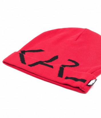 Шапка KARL LAGERFELD Kids Z11035 красная с логотипом