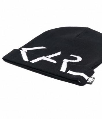 Шапка KARL LAGERFELD Kids Z11035 черная с логотипом