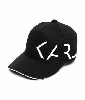 Кепка KARL LAGERFELD Kids Z21023 черная с логотипом