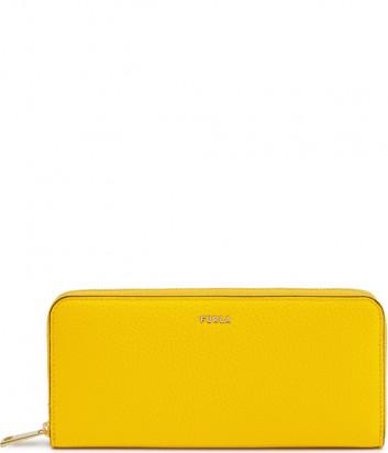 Портмоне на молнии FURLA Babylon XL PCX8UNO в зернистой коже желтое