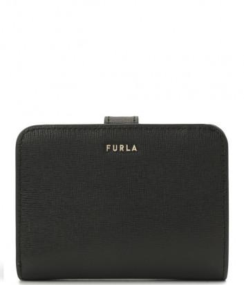 Компактный кошелек FURLA Babylon S PCY0UNO в коже сафьяно черный