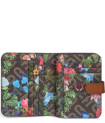 Компактный кошелек FURLA Babylon S PCY0UNO коричневый с принтом внутри