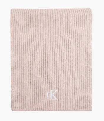 Вязанный шарф CALVIN KLEIN Jeans K60K608370 пудровый с логотипом
