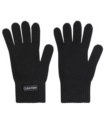 Трикотажные перчатки CALVIN KLEIN Jeans K60K608508 черные