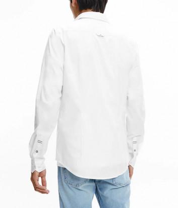 Белая рубашка CALVIN KLEIN Jeans J30J318620 с брендированной тесьмой