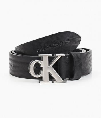 Кожаный ремень CALVIN KLEIN Jeans K50K507178 черный