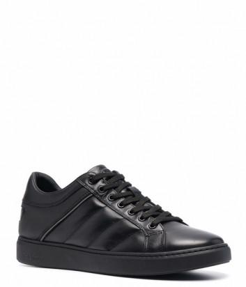 Мужские кожаные кеды BALDININI U2B851 черные
