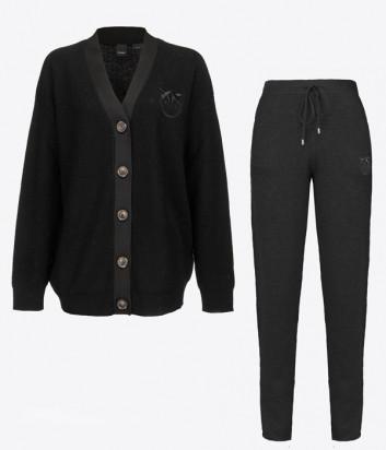 Трикотажный костюм PINKO 1G16AR-1G16B5 Y79Q кардиган и брюки черный