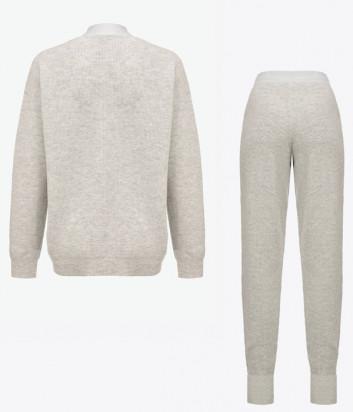Трикотажный костюм PINKO 1G16AR-1G16B5 Y79Q кардиган и брюки серый