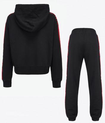 Спортивный костюм PINKO 1G16VV-1G16VU Y7JP черный с розовыми лампасами
