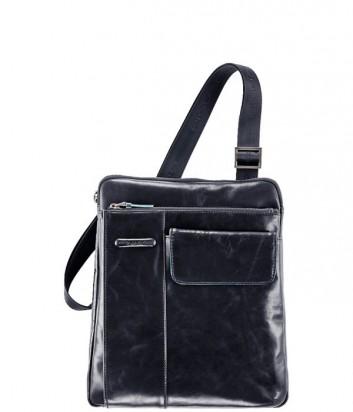 Кожаная сумка Piquadro Blue Square CA1815B2 с фронтальным карманом синяя