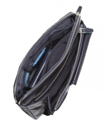 Сумка Piquadro Blue Square CA1815B2 с фронтальным карманом синяя