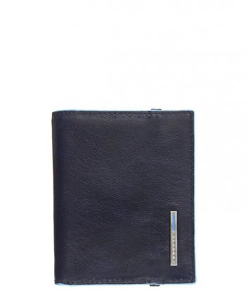 Кредитница Piquadro Blue Square PP1395B2_BLU2 на резинке синяя