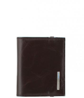 Кредитница Piquadro Blue Square PP1395B2_MO на резинке коричневая