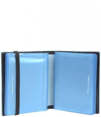 Кредитница Piquadro Blue Square PP1395B2_N на резинке черная