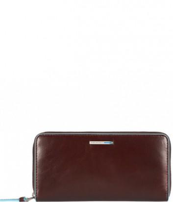 Кожаное портмоне на молнии Piquadro Blue Square PD3229B2 коричневое