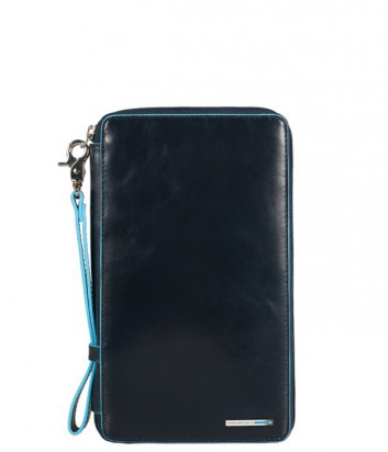 Кожаное портмоне Piquadro Blue Square PP3246B2 на молнии синее