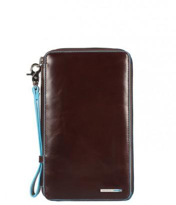 Кожаное портмоне Piquadro Blue Square PP3246B2 на молнии коричневое