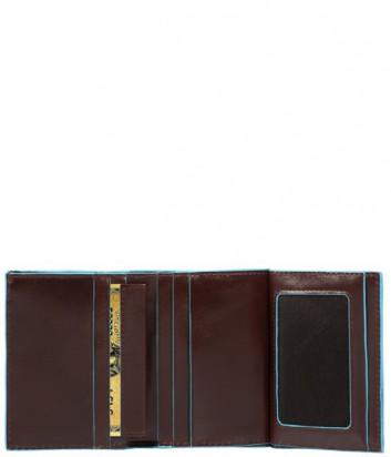 Портмоне Piquadro Blue Square PU3244B2 с отдел. для монет коричневое