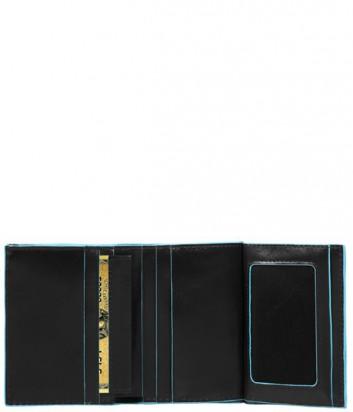 Портмоне Piquadro Blue Square PU3244B2_N с отдел. для монет черное