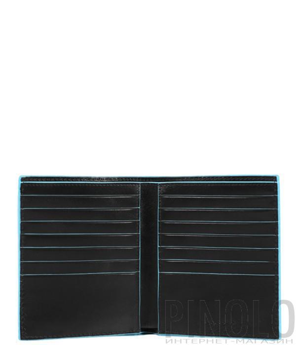Портмоне Piquadro Bl Square PU3247B2_N с отдел. для кредиток черное
