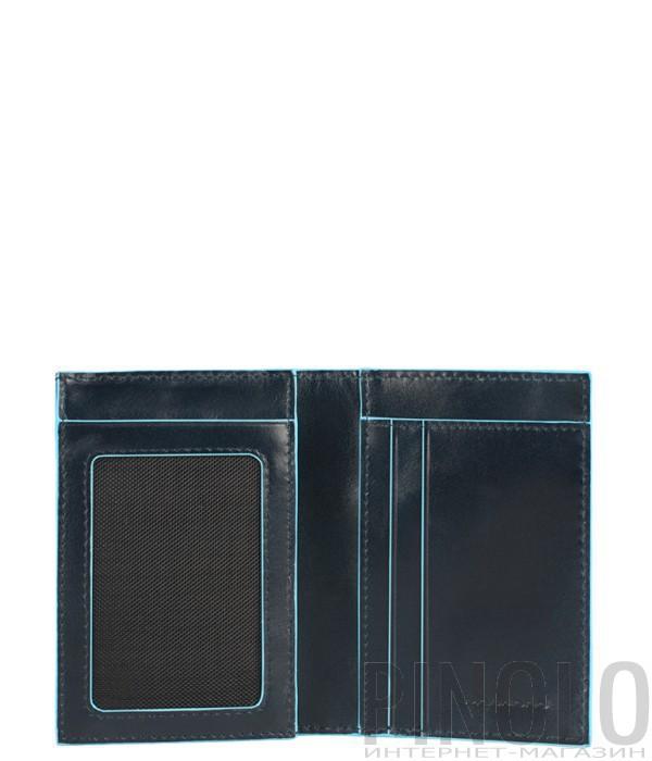 Вертикальное портмоне Piquadro Bl Square PU3249B2 с отд/монет синее
