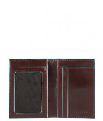 Вертикальное портмоне Piquadro Bl Square PU3249B2 с отд/монет корич