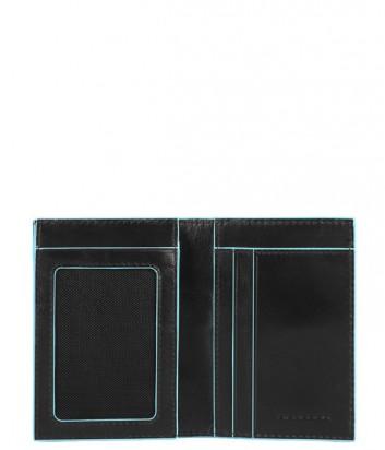 Вертикальное портмоне Piquadro Bl Square PU3249B2 с отд/монет черное