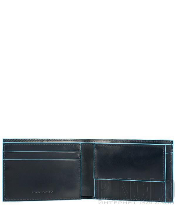 Портмоне Piquadro Bl Square PU3242B2_BLU с отдел. для монет синее