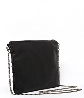 900135ecc6d9 Макси сумка-клатч Patrizia Pepe на длинной ручке-цепочке черная ...