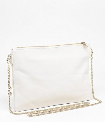 84f926af1a14 Макси сумка-клатч Patrizia Pepe на длинной ручке-цепочке белая ...