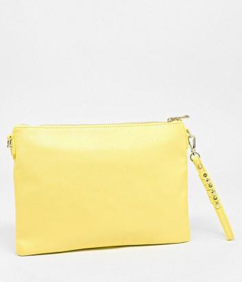 4af2b7155f5b ... Макси сумка-клатч Patrizia Pepe на длинной ручке-цепочке желтая ...